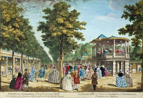 Revellers at the Vauxhall Pleasure Garden in the 18th century - Credit: Getty