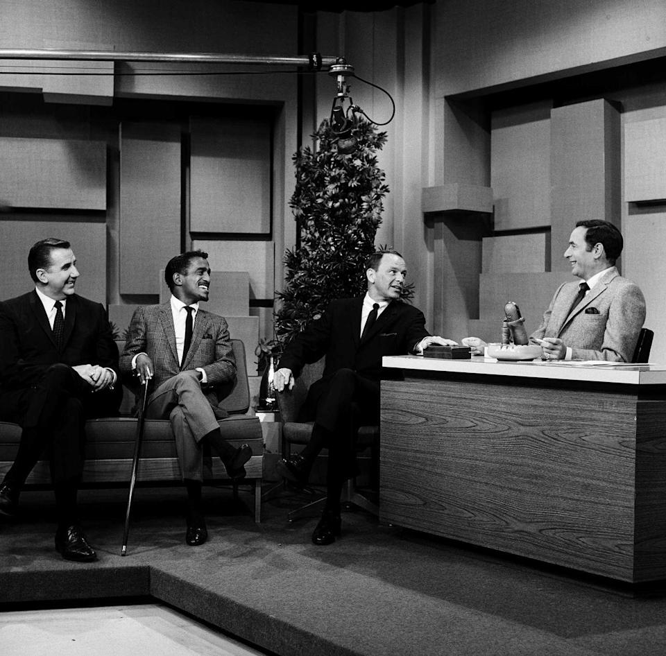 <p>The boys look dapper as guests on <em>The Tonight Show Starring Johnny Carson </em>in September 1965.</p>