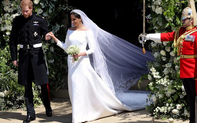 The Duchess of Sussex's wedding gown was also designed by Clare Waight Keller - PA
