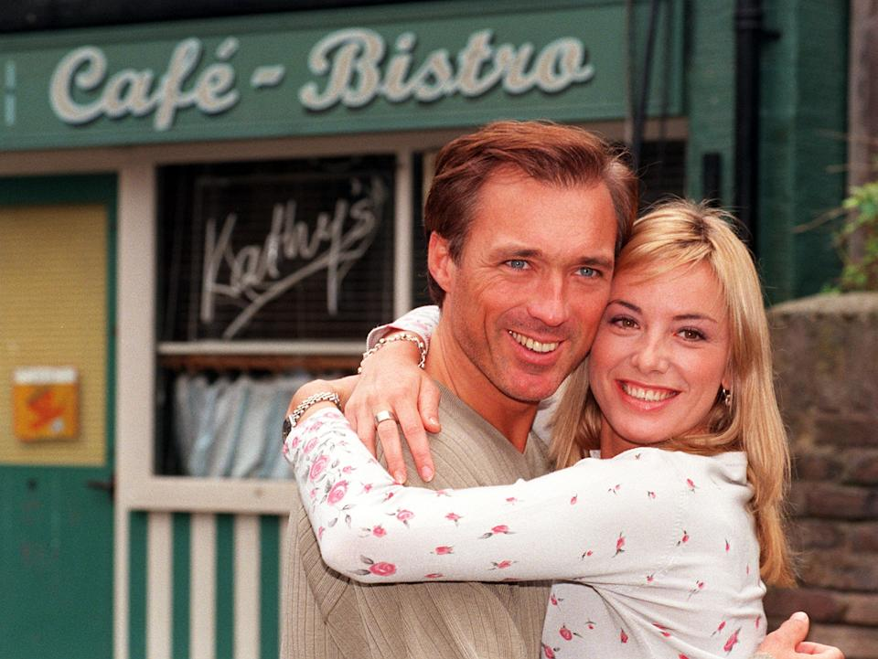 Tamzin Outhwaite's character was married to Martin Kemp's during her tenure on 'EastEnders'. (Michael Stephens/PA Images via Getty Images)