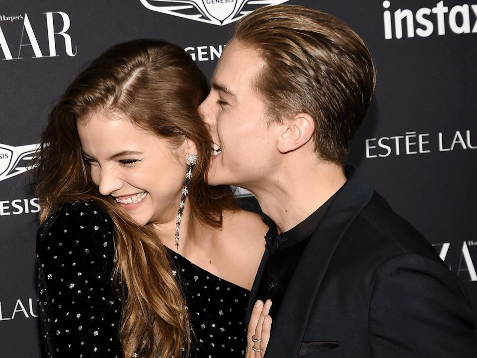 Barbara Palvin and Dylan Sprouse were at Fashion Week together in 2018.