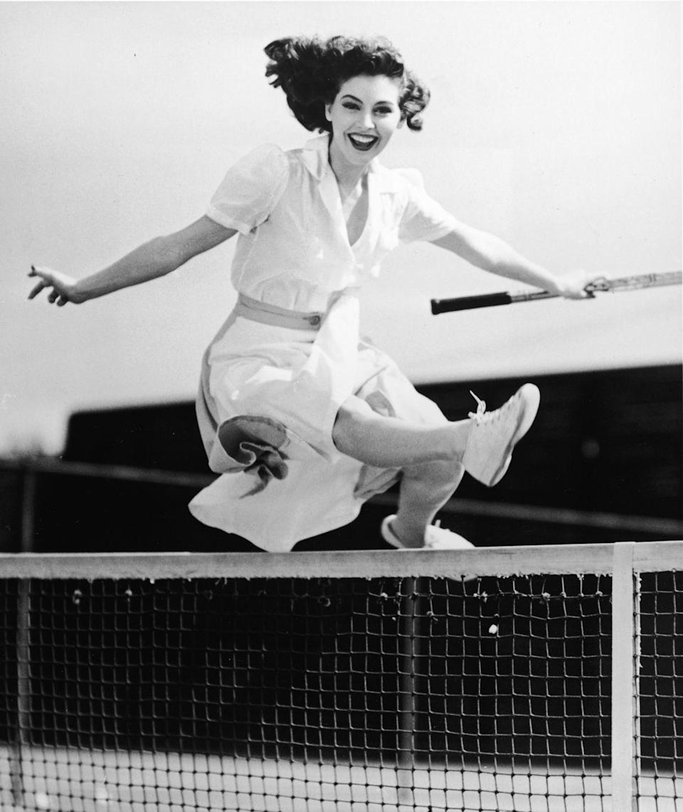 <p>Gardner—looking flawless even in mid-jump—was discovered when an agent spotted a photograph of hers displayed in her brother-in-law's New York City studio. </p>