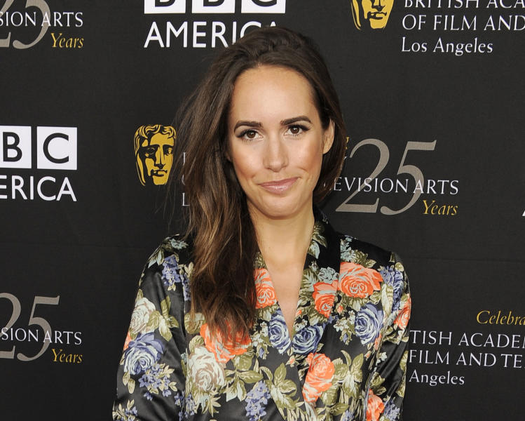 """FILE - This Sept. 22, 2012 file photo shows Louise Roe, Glamour magazine's editor at large and the new host of NBC's """"Fashion Star,"""" posing at the British Academy of Film and Television Arts Los Angeles TV Tea 2012 party at The London Hotel in West Hollywood, Calif. (Photo by Chris Pizzello/Invision/AP, file)"""