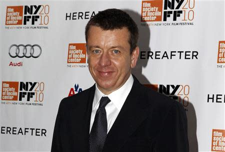 """Screenwriter Peter Morgan arrives at the closing night screening of """"Hereafter"""" at the 48th New York Film Festival"""