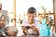 """<p>With some advanced planning, you can create an egg hunt that's entirely online. Or, if you don't want to make your own <a href=""""https://www.goodhousekeeping.com/holidays/easter-ideas/a32080456/virtual-easter-egg-hunts/"""" rel=""""nofollow noopener"""" target=""""_blank"""" data-ylk=""""slk:virtual egg hunt"""" class=""""link rapid-noclick-resp"""">virtual egg hunt</a>, you can find a company that'll set one up for you. <a href=""""https://watsonadventures.com/"""" rel=""""nofollow noopener"""" target=""""_blank"""" data-ylk=""""slk:Watson Adventures"""" class=""""link rapid-noclick-resp"""">Watson Adventures</a>, for example, has an online game starting at $19 per team where kids have to find eggs hidden in different museums around the world. (They can also set up private games.) </p><p><a class=""""link rapid-noclick-resp"""" href=""""https://watsonadventures.com/hunt/hop-to-it-kids-the-online-easter-egg-hunt/"""" rel=""""nofollow noopener"""" target=""""_blank"""" data-ylk=""""slk:BUY NOW"""">BUY NOW</a></p><p><strong>RELATED:</strong> <a href=""""https://www.goodhousekeeping.com/holidays/easter-ideas/a32080456/virtual-easter-egg-hunts/"""" rel=""""nofollow noopener"""" target=""""_blank"""" data-ylk=""""slk:How to Host a Virtual Easter Egg Hunt With Family and Friends While Social Distancing"""" class=""""link rapid-noclick-resp"""">How to Host a Virtual Easter Egg Hunt With Family and Friends While Social Distancing</a></p>"""