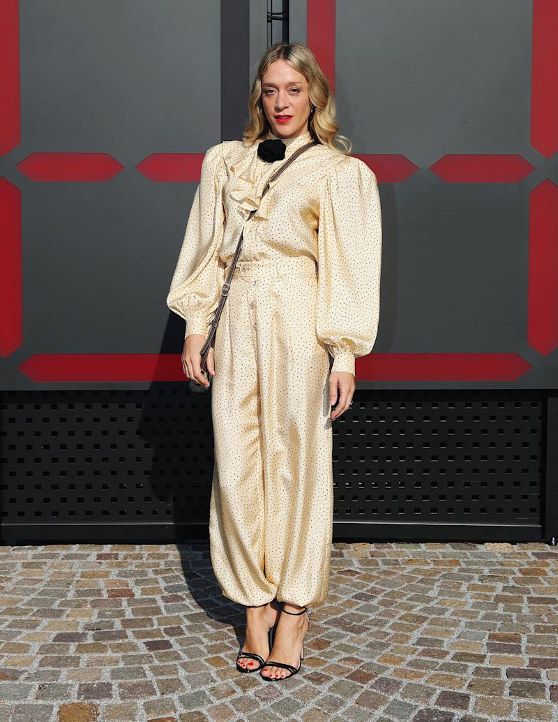 Chloë Sevigny What: Gucci Where: At the Gucci Fall 2018 show, Milan When: February 21, 2018