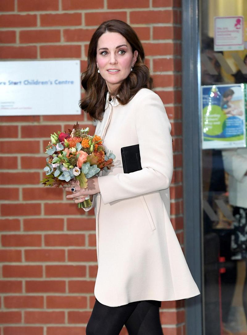 Despite the scandal, Kate was seen making an appearance at Hornsey Road Children's Centre. Photo: Getty