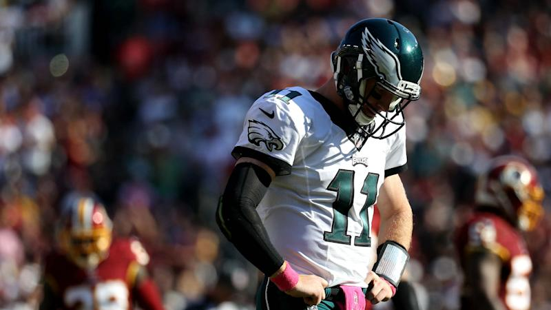 Redskins bully rookie Carson Wentz, hold off Eagles