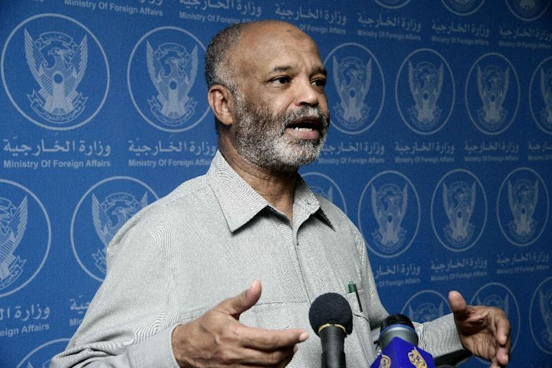 Sudanese State Minister of Foreign Affairs Kamal Ismail insisted that President Omar al-Bashir's visit to Johannesburg for a summit was proceeding normally and he would return after its main meeting, June 14, 2014 in Khartoum (AFP Photo/Ebrahim Hamid)
