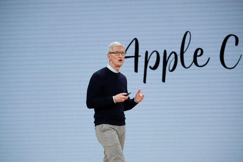 Cook, CEO of Apple Inc., takes part in an educational focused event in Chicago
