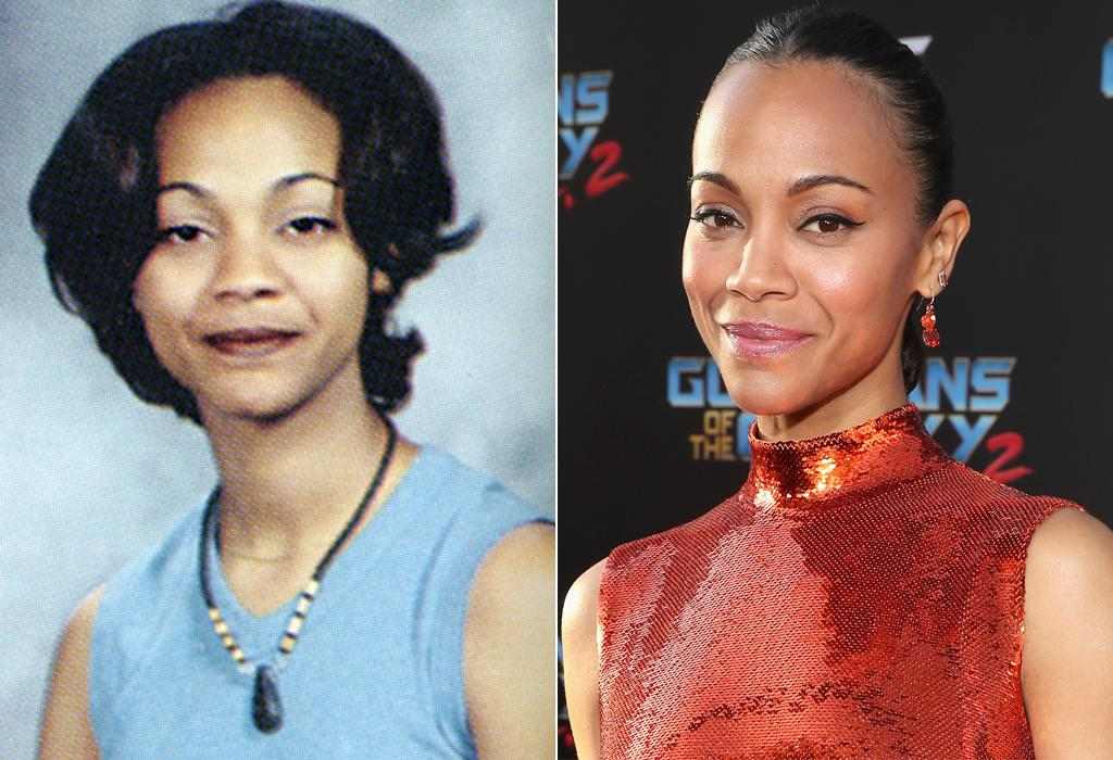 <p>The future Gamora, Zoe Saldana, had her pursed-lip smile down pat in her 1997 senior year photo from Newtown High School in Elmhurst, N.Y. (Photo: Seth Poppel/Yearbook Library/Getty Images) </p>