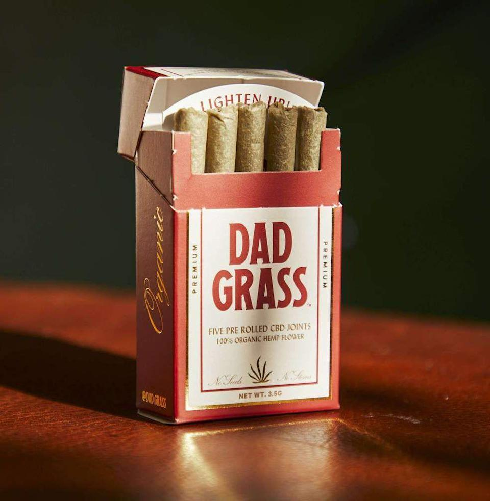 "<p><strong>Dad Grass</strong></p><p>dadgrass.com</p><p><strong>$35.00</strong></p><p><a href=""https://go.redirectingat.com?id=74968X1596630&url=https%3A%2F%2Fdadgrass.com%2Fcollections%2Fjoints%2Fproducts%2Fdad-grass-hemp-cbd-preroll-5-pack%3Fvariant%3D32873449979990&sref=https%3A%2F%2Fwww.esquire.com%2Flifestyle%2Fg36097955%2Ffathers-day-gifts-from-wife%2F"" rel=""nofollow noopener"" target=""_blank"" data-ylk=""slk:Buy"" class=""link rapid-noclick-resp"">Buy</a></p><p>Offering the softest of buzzes and not much more, these CBD joints will transport him back to the good ole days. No legal lines toed or parenting choices questioned.</p>"