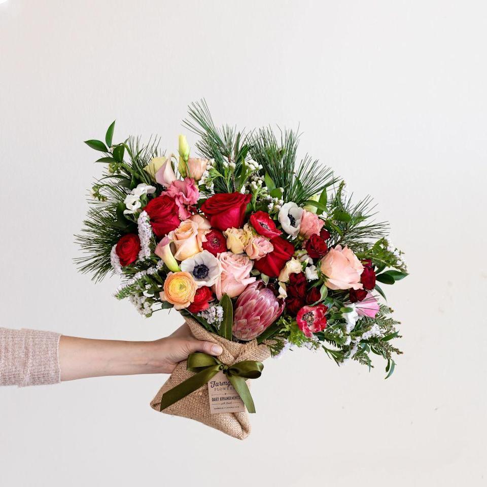 "<p>farmgirlflowers.com</p><p><a href=""https://farmgirlflowers.com/shop"" rel=""nofollow noopener"" target=""_blank"" data-ylk=""slk:BUY NOW"" class=""link rapid-noclick-resp"">BUY NOW </a></p><p>Farmgirl flowers offers gorgeous arrangements of florals and foliage that are truly unique. It also has a small selection of plants and preserved florals. </p>"