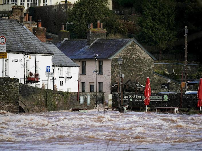 South Wales has seen extensive flooding over the weekend: Getty