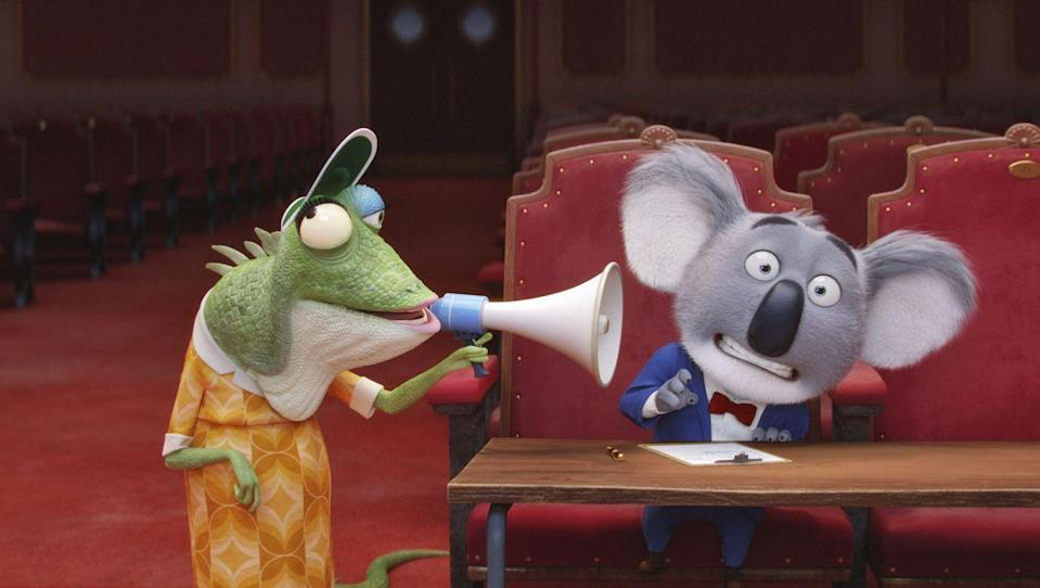 <p>Can we just agree that singing animals is all the happiness the world needs right now? Kay, thanks. Taron Egerton, Scarlett Johansson, Resse Witherspoon, and Mattew McConaughey lend their voices to the animated film, expected to release on December 21, 2021.</p>