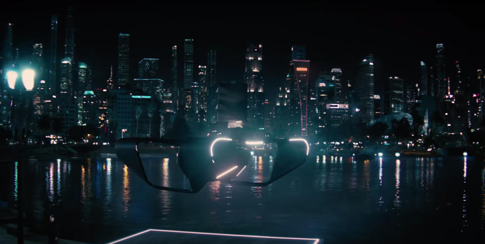 Part of the Singapore skyline seen in a trailer for HBO's Westworld.