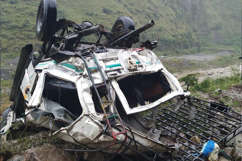 Three Couples Among Thirteen Dead as Overloaded Cab Rolls Down Gorge in Shimla