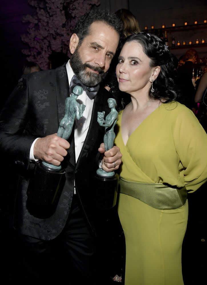 Tony Shalhoub and Alex Borstein | Kevin Mazur/Getty