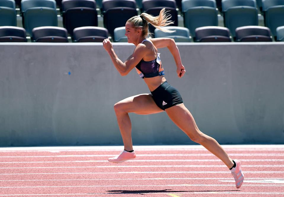 """<p><strong>Sport:</strong> Track and field<br> <strong>Country:</strong> USA</p> <p>Moline finished fifth in the 400m hurdles in London in 2012, but was unable to compete in Rio due to a back injury suffered <a href=""""https://www.worldathletics.org/news/series/georganne-moline-usa-400m-hurdles"""" class=""""link rapid-noclick-resp"""" rel=""""nofollow noopener"""" target=""""_blank"""" data-ylk=""""slk:just weeks before the Olympic Trials"""">just weeks before the Olympic Trials</a>. She's also battled mental roadblocks and a foot injury, for which <span>she got surgery in 2019</span>, but Moline hasn't given up. Though the competition for the 400m hurdles on Team USA is intense - featuring world record holder and world champion Dalilah Muhammad and world silver medalist Sydney McLaughlin - Moline's mental fortitude and comeback attitude can only play in her favor. In July, she ran in her first race in 18 months, the socially distanced Inspiration Games, <a href=""""https://www.youtube.com/watch?v=neTm8UIvEEM"""" class=""""link rapid-noclick-resp"""" rel=""""nofollow noopener"""" target=""""_blank"""" data-ylk=""""slk:and won"""">and won</a>.</p>"""