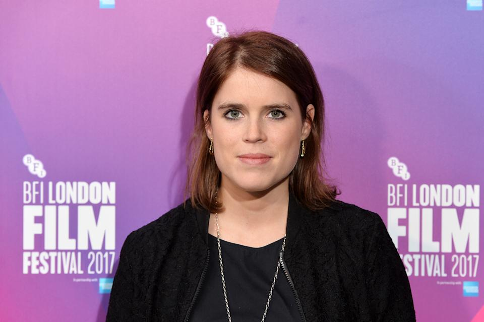 """LONDON, ENGLAND - OCTOBER 13:  Princess Eugenie of York arrives at the European premiere of """"Jane"""" during the 61st BFI London Film Festival at Picturehouse Central on October 13, 2017 in London, England.  (Photo by Jeff Spicer/Jeff Spicer/Getty Images for WDW Entertainment)"""
