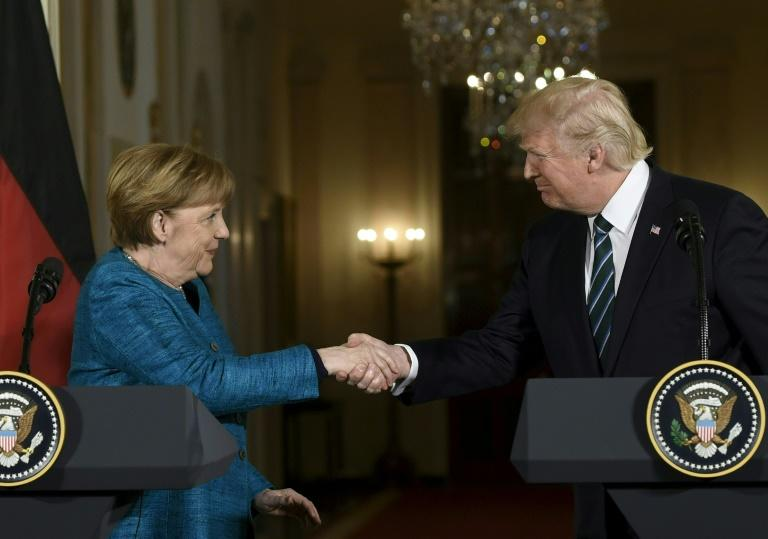 "US President Donald Trump insisted at a tense Washington press conference Friday, following his first meeting with German Chancellor Angela Merkel, that ""I'm a free trader but also a fair trader"""