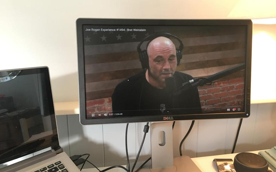 James Innes-Smith now uses a monitor instead of a TV