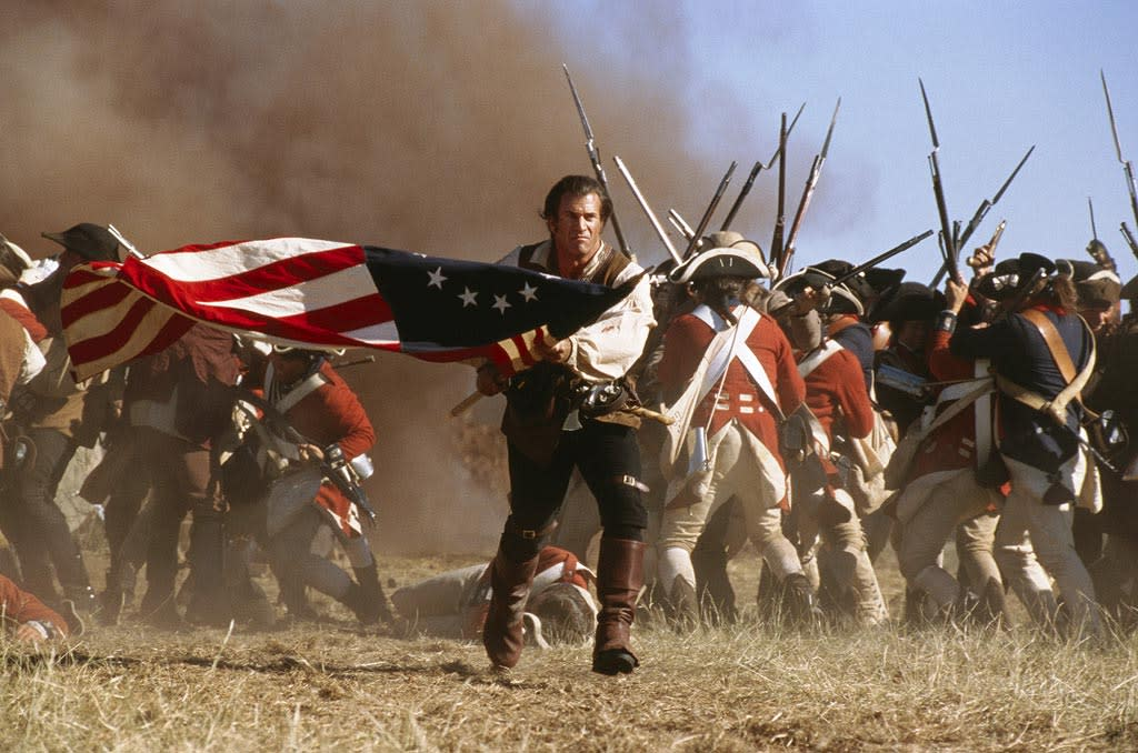 "<a href=""http://movies.yahoo.com/movie/1800353825/info"">The Patriot</a>  Revolutionary War figure Francis ""The Swamp Fox"" Marion was the basis for <a href=""http://movies.yahoo.com/movie/contributor/1800019113"">Mel Gibson</a>'s character, but he wasn't the forward-thinking family man they show in the flick. He was a slave owner who didn't get married (to his cousin) until after the war was over. Historians also say that he actively persecuted and murdered native Cherokees. Plus, the thrilling Battle of Guilford Court House where he vanquishes his British nemesis? In reality, the Americans lost that one."