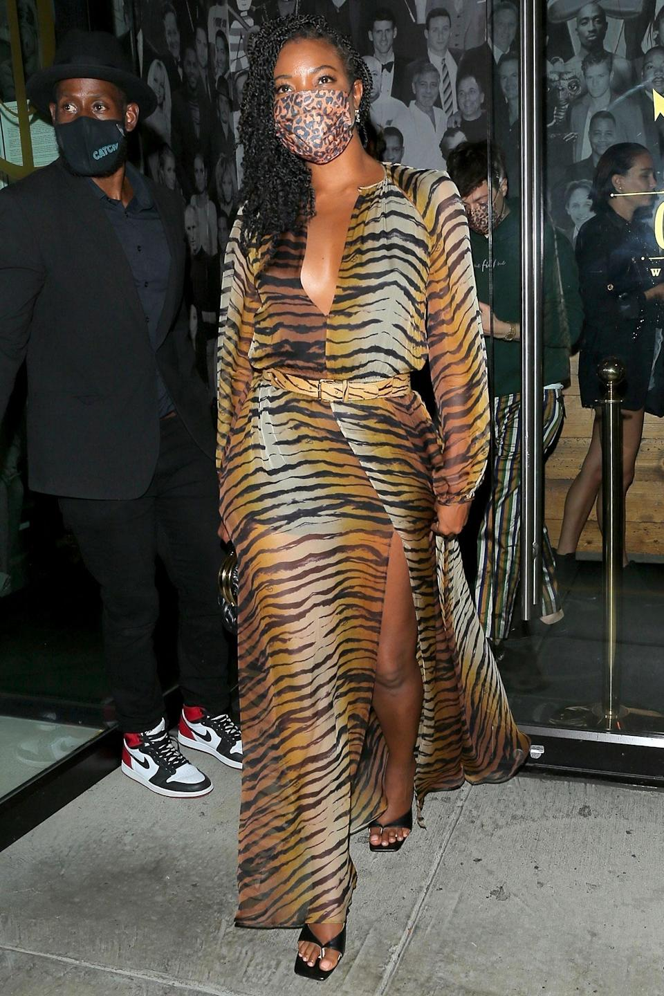 <p>Gabrielle Union was spotted out to dinner at Catch in West Hollywood.</p>