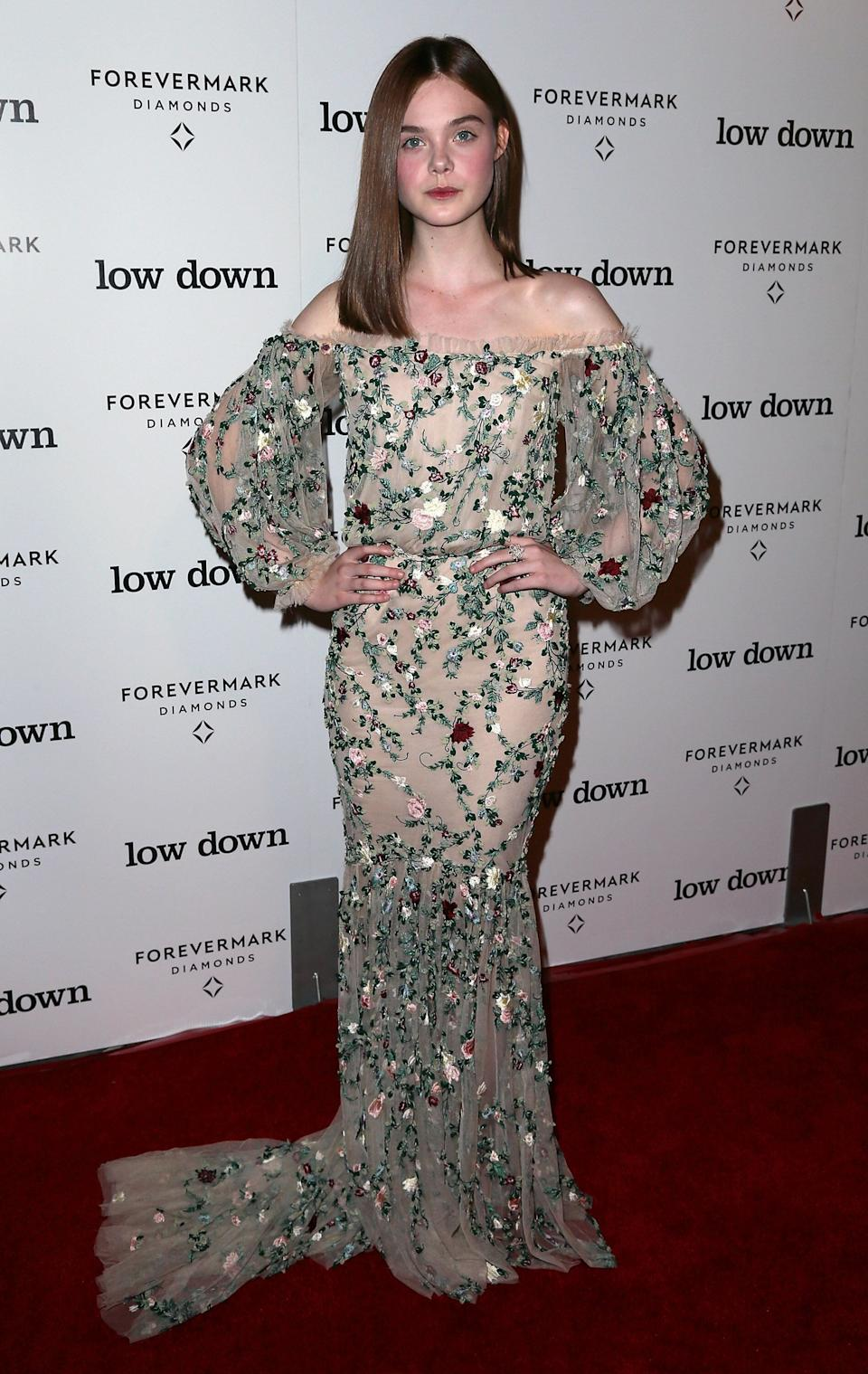"Fanning at the premiere of Oscilloscope Laboratories' ""Lowdown"" at ArcLight Hollywood."