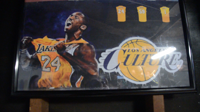 Never's past work includes a Kobe Bryant themed mural. (Jackie Bamberger/Yahoo Sports)