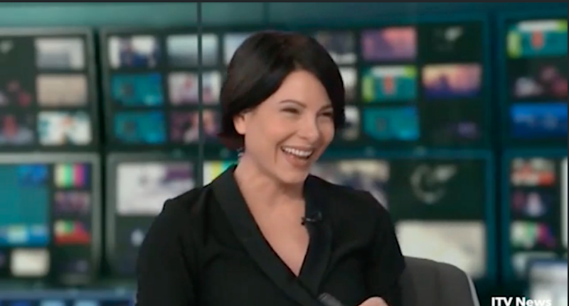 The newsreader couldn't help but laugh at the little girl's question. Photo: ITV