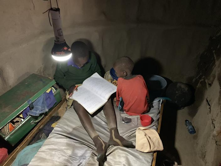 African schoolchildren can now do their homework at night using the power of the Solar Cow batteries.