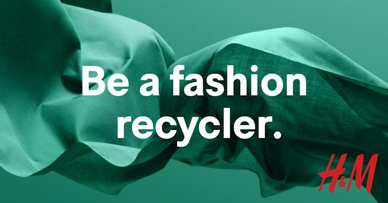 An advert for H&M's recycling initiative it launched in 2017 (H&M)