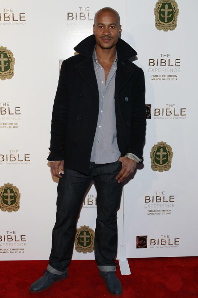 "Max Tapper arrives at ""The Bible Experience"" opening night gala, a rare exhibit of biblical artifacts, in New York City on Tuesday, March 19 in New York."