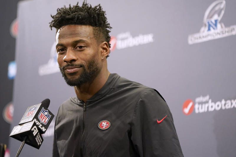 Former San Francisco 49ers wide receiver Emmanuel Sanders signed with the Saints. (AP Photo/Tony Avelar)