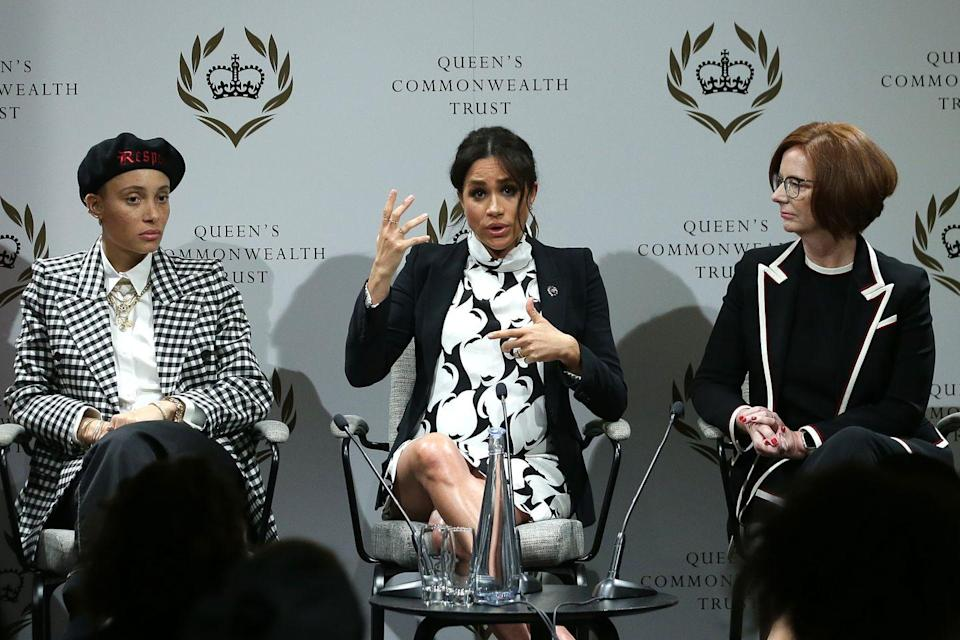 """<p>Legally, members of the British royal family aren't supposed to voice political opinions, as they're a nonpolitical entity. However, Meghan has broken this rule a couple of times. First, she proudly <a href=""""https://www.huffingtonpost.ca/2018/05/22/meghan-markle-royals-site_a_23440663/"""" rel=""""nofollow noopener"""" target=""""_blank"""" data-ylk=""""slk:declared herself a feminist"""" class=""""link rapid-noclick-resp"""">declared herself a feminist</a> (which IMO shouldn't be a political stance!), and then she reportedly revealed that she was pro-choice. At least, according to Irish Senator Catherine Noone, who tweeted that she spoke with Meg and the Duchess seemed pleased that Ireland wanted to legalize abortion. Noone later deleted the tweet, possibly realizing her mistake.</p>"""