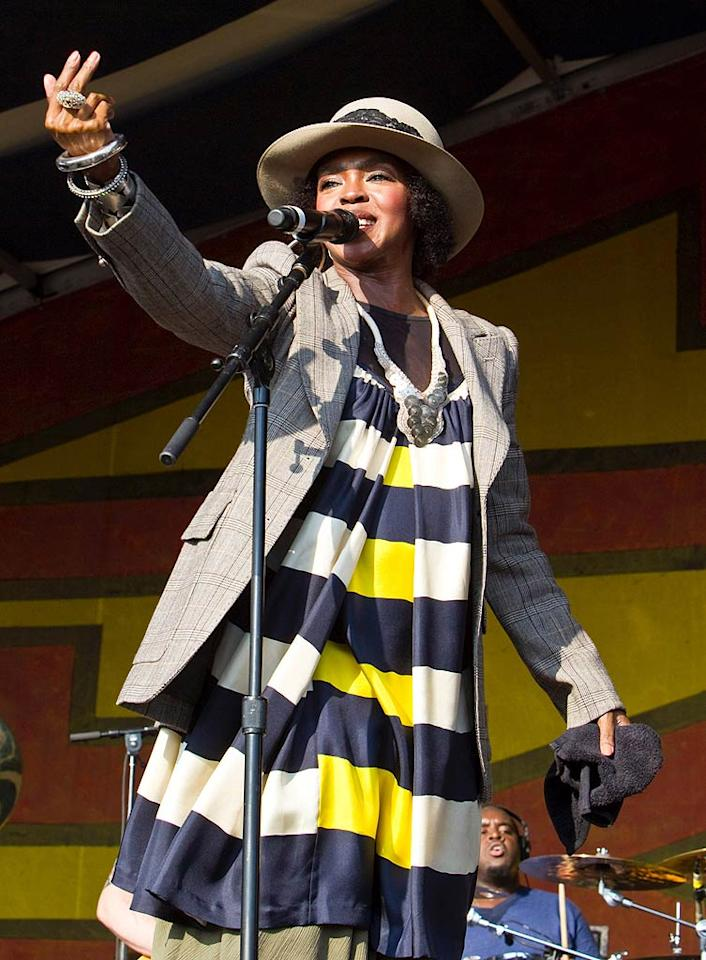 "Lauryn Hill turns 36 Skip Bolen/<a href=""http://www.wireimage.com"" target=""new"">WireImage.com</a> - May 7, 2011"