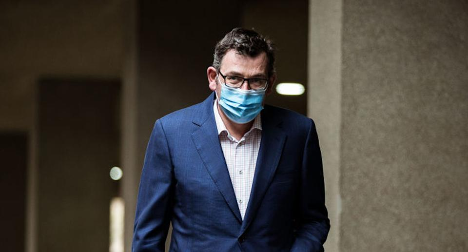 Premier Daniel Andrews has seen his state's capital edge closer to the title of most locked down city globally during the pandemic. Source: Getty