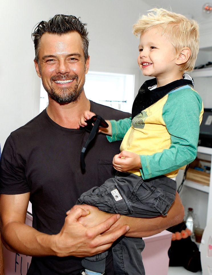 Josh Duhamel and his son, Axl, are going to rough it in Minnesota this summer. (Photo: Randy Shropshire/Getty Images for Oceana)