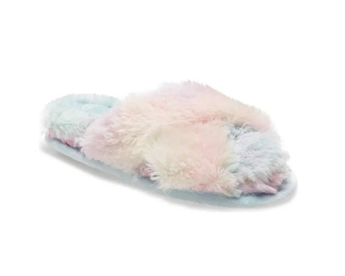 <p>These <span>BP. Sophie Criss Cross Plush Bedroom Slippers</span> ($20, originally $30) are always a winning gift.</p>