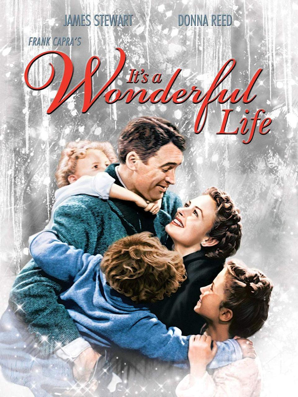 """<p>This 1946 Frank Capra film isn't just one of the best Christmas movies of all time — it's one of the best movies in general. <em>It's a Wonderful Life</em> was nominated for six Academy Awards and ranks #11 on the American Film Institute's original list of the <a href=""""https://www.afi.com/afis-100-years-100-movies/"""" rel=""""nofollow noopener"""" target=""""_blank"""" data-ylk=""""slk:100 Greatest American Films of All Time"""" class=""""link rapid-noclick-resp"""">100 Greatest American Films of All Time</a>.</p><p><a class=""""link rapid-noclick-resp"""" href=""""https://www.amazon.com/Its-Wonderful-Life-James-Stewart/dp/B07JNJQTSX/?tag=syn-yahoo-20&ascsubtag=%5Bartid%7C10055.g.1315%5Bsrc%7Cyahoo-us"""" rel=""""nofollow noopener"""" target=""""_blank"""" data-ylk=""""slk:WATCH NOW"""">WATCH NOW</a></p>"""
