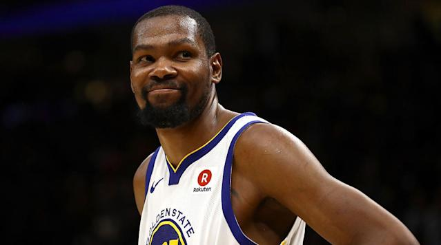 Warriors forward Kevin Durant was named Finals MVP after Golden State finished its sweep of Cleveland with a 108-85 win in Game 4 on Friday.