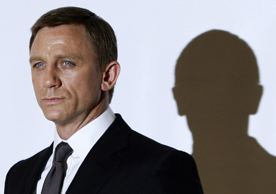 Actor Daniel Craig who plays James Bond