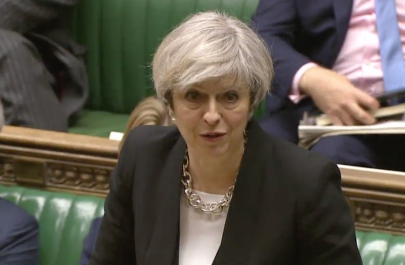 Theresa May in the House of Commons (File): House of Commons