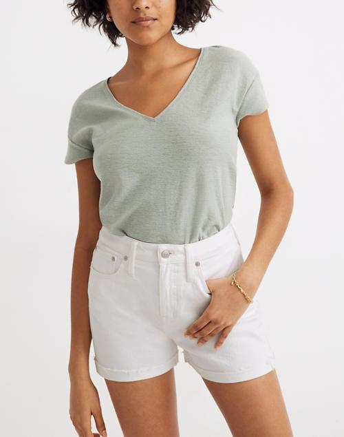 "<p>These <a href=""https://www.popsugar.com/buy/Madewell-Curvy-High-Rise-Denim-Shorts-587735?p_name=Madewell%20Curvy%20High-Rise%20Denim%20Shorts&retailer=madewell.com&pid=587735&price=70&evar1=fab%3Aus&evar9=45988379&evar98=https%3A%2F%2Fwww.popsugar.com%2Ffashion%2Fphoto-gallery%2F45988379%2Fimage%2F47603872%2FMadewell-Curvy-High-Rise-Denim-Shorts&list1=shopping%2Cdenim%2Cshorts%2Csummer%2Cdenim%20shorts%2Csummer%20fashion&prop13=mobile&pdata=1"" class=""link rapid-noclick-resp"" rel=""nofollow noopener"" target=""_blank"" data-ylk=""slk:Madewell Curvy High-Rise Denim Shorts"">Madewell Curvy High-Rise Denim Shorts</a> ($70) fit great and are the perfect length.</p>"