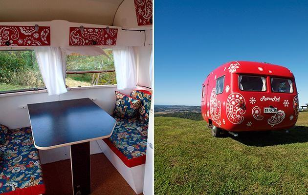 The Retro Pod supplied vintage caravans and tens for hire that are bale to be set up anywhere in Byron Bay. Source: Supplied