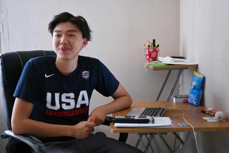 Togi maintains a tight schedule to be able to balance work and school while also attending basketball practice