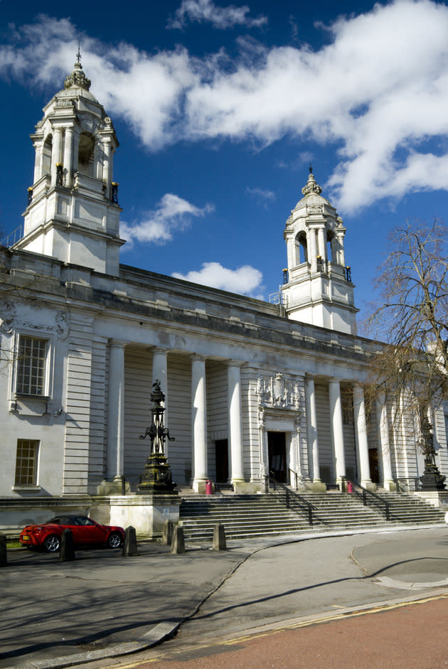 The couple were jailed at Cardiff Crown Court (pictured)