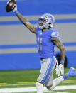 Detroit Lions wide receiver Marvin Jones crosses the goal line for a touchdown during the second half of an NFL football game against the Minnesota Vikings, Sunday, Jan. 3, 2021, in Detroit. (AP Photo/Duane Burleson)