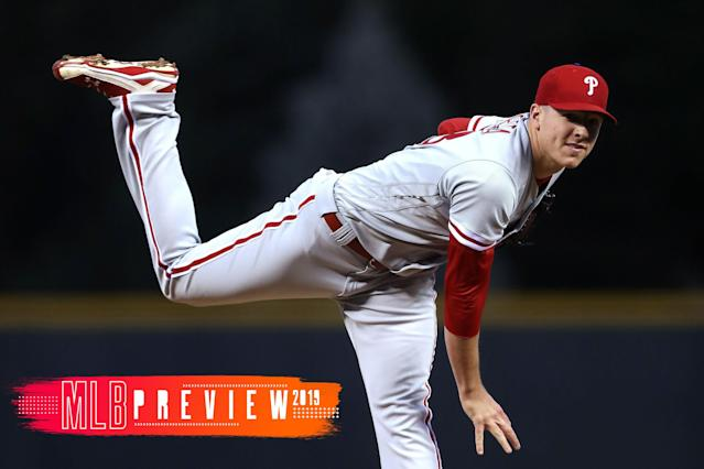 Nick Pivetta of the Phillies is one pitcher to watch in 2019. (Getty Images)